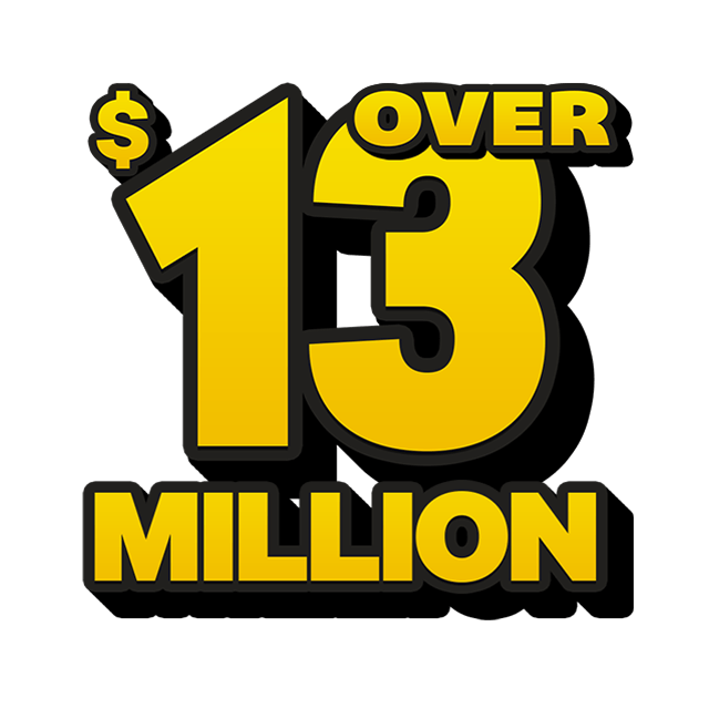 Mega Jackpot Lottery - 13 Million