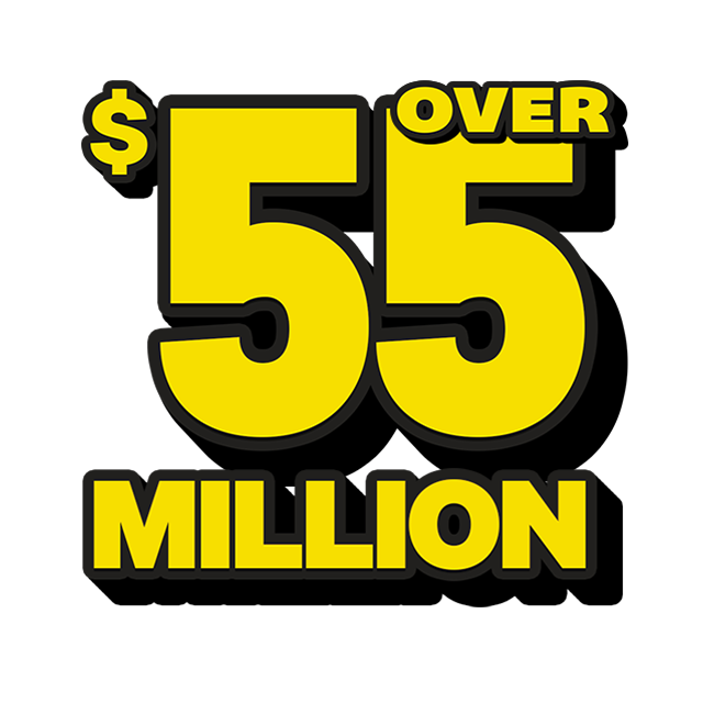 Mega Jackpot Lottery - 56 Million