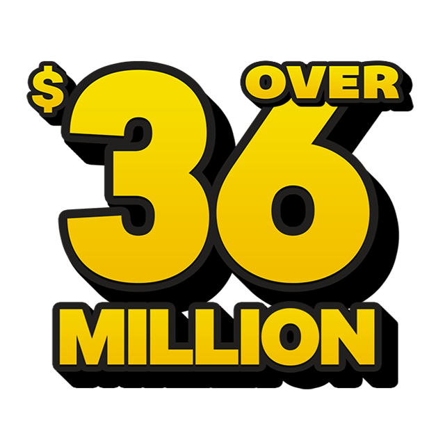 Mega Jackpot Lottery - 37 Million